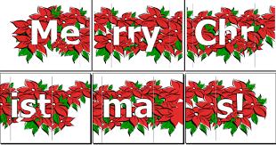 Merry Christmas Banner Print Printable Merry Christmas Letter Banner Christmas Printables