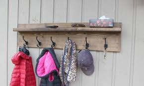 large rustic modern coat rack floating