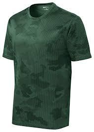 Sport Tek Mens Moisture Wicking Camohex Tee Shirt