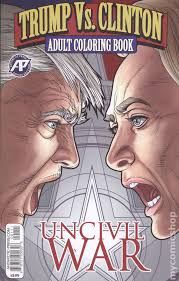 trump vs clinton uncivil war coloring book 2018 regular