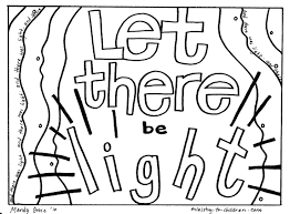 Creation Coloring Pages Let There Be Light Welcome To Grace