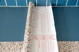 contact paper kitchen counter with roll spread out