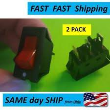 120v rocker switch 2x red led light lamp on off spst rocker switch 15a 220v 240v 20a 125v