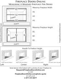 measurement checklist sheet for masonry fireplaces