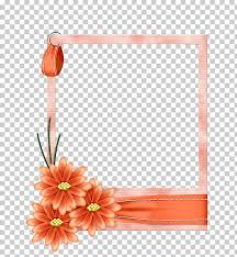 Paper With Flower Border Borders And Frames Frames Flower Paper Flower Png Clipart