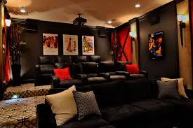 Fort Bend Classic transitional-home-theater