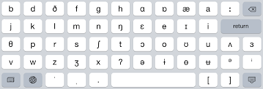 The symbol from the international phonetic alphabet (ipa), as used in phonetic transcriptions in modern dictionaries for english learners — that is, in a. English Ipa Keyboard For Iphone And Ipad