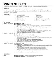 housekeeper cv sample