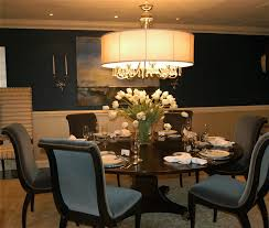 vase lighting ideas. Crystal Chandelier With Drum Shade Over Round Pedestal Dining Table And Replaceable Velvet Fabric Upholstered Chairs Also Clear Glass Vase Flower Lighting Ideas I