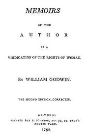 mary wollstonecraft title page reads memoirs of the author of a vindication of the rights of w