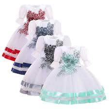 Kids Dresses For <b>Girls Embroidery</b> Princess Dress <b>Summer</b> Flower ...
