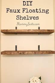 Floating Shelve Brackets DIY Faux Floating Shelves Easy Shelf Brackets 100 63