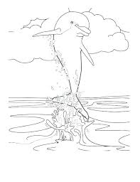 Dolphin Coloring Pages To Print Out Coloring Pages Dolphin Coloring