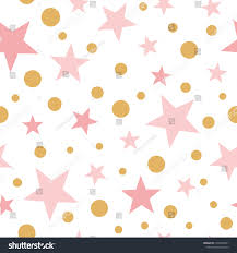 Light Pink And Gold Wallpaper Pink Wallpaper Baby Girl Gold Polka Stock Vector Royalty