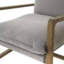 pillow chair. antonia rustic lodge grey pillow brown wood living room arm chair | kathy kuo home v
