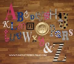 custom painted alphabet wall letter set