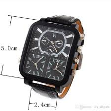 mens watches v6 all black square sport watch leather watcheband mens watches v6 all black square sport watch leather watcheband quartz wristwatch crystal watches for men