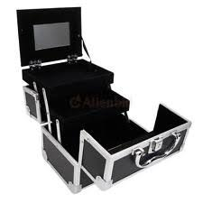 new aluminum makeup train cosmetic jewelry case cosmetic storage lockable box