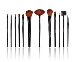 brush set with pouch gold shany professional 12 piece natural goat and badger shany studio