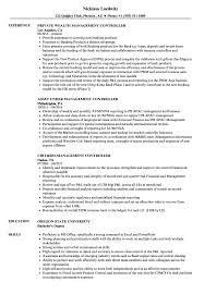 Management Controller Resume Samples Velvet Jobs