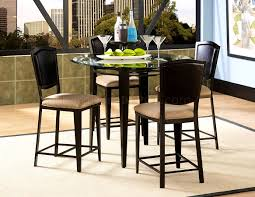 size dining room contemporary counter: gorgeous black metal glass top modern pc counter height dining set and sets eadaddcfcd