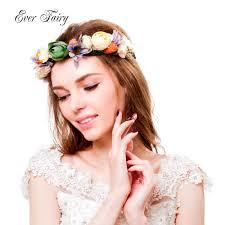 dressfan <b>Flower</b> Wreath Headband Women Girls <b>Rattan</b> Head ...