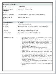Sample Ccna Resume Resume Format Awesome Resume Format For Freshers