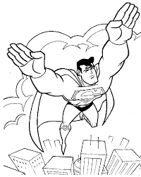 Small Picture Coloring Pages Superman Superman Coloring Pages To Print Out