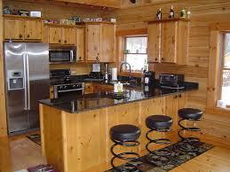 custom made log kitchen cabinets