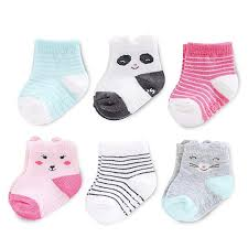 Carters Socks Size Chart Carters Baby Girls Crew Socks 6 Pack