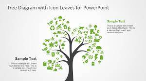 tree in powerpoint tree diagram with icon leaves for powerpoint