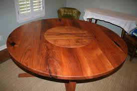 dining table with lazy susan built in room ideas