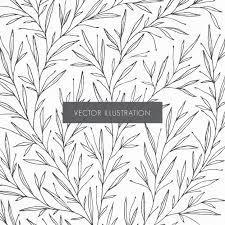 植物パターンイラスト ベクター画像 無料ダウンロード