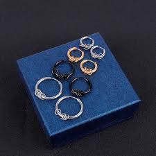 Earrings <b>2pc</b> Basic Hipster Round Anti-Allergy Titanium Steel ...