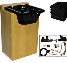 salon shampoo cabinets. Interesting Shampoo Black CERAMIC Shampoo Bowl Unit Sink Cabinet Barber Spa Beauty Salon  Equipment With Cabinets E
