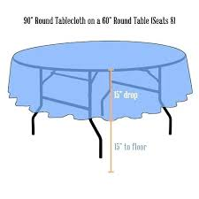 what size tablecloth for a 60 round table linens x 42