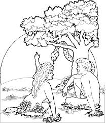 Small Picture Free Printable Adam and Eve Coloring Pages For Kids Best