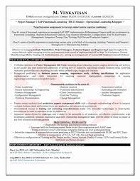 Elegant Sample Resume For Erp Implementation Resume Ideas