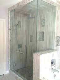 half wall shower glass half wall shower glass pony stunning corner walls home design plan interior