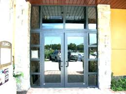 glass front door for business contemporary boise the s regarding 17