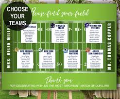 Louisville Seating Chart Football Football Themed Wedding Seating Chart Great For Sport