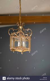 Decorative Chain For Light Fixtures Decorative Vintage Golden Light Covered In Dust And Cobwebs