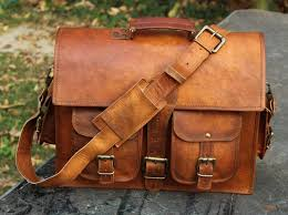 1 side pouch brown leather motorcycle side saddlebags saddle panniers motor 1926674337