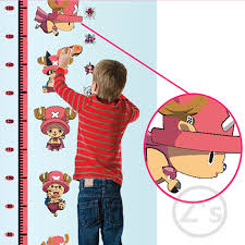 One Piece Height Chart One Piece Tony Tony Chopper Height Sticker Wall Stickers For