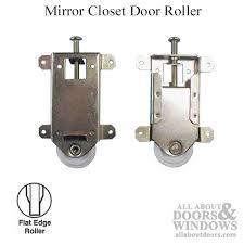 externally mounted bottom roller closet door rollers