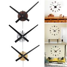 fit to viewer prev next large silent quartz diy wall clock movement hands mechanism repair