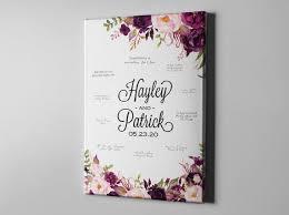 Wedding Guest Book For Sale Sale 50 Off Canvas Guest Book Elegant Plum Floral Guest