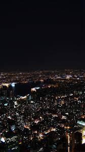 Dark Night City Building Skyview iPhone ...