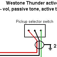 westone thunder active guitar wiring