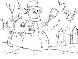 Small Picture Snowman And Animals Coloring Pages Free Winter Coloring pages of